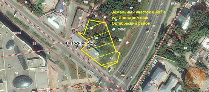 Земельный участок 0,49 Га ул. Ипподромская Октябрьский район
