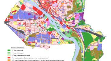 Карта градостроительного зонирования территории города Новосибирска