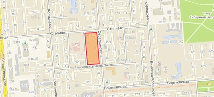 Земельный участок 1,17 Га ул. Серафимовича Ленинский район