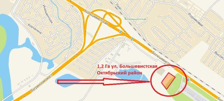 Супер-участок из муниципальной собственности на первой линии Большевички!