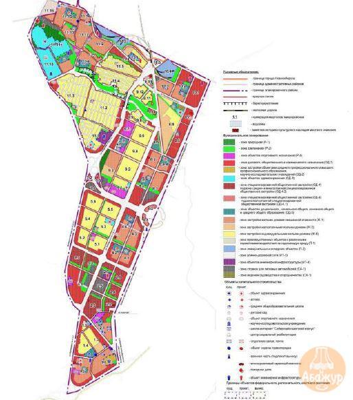 Чертеж проекта планировки территории, прилегающей к Мочищенскому шоссе в Заельцовском районе