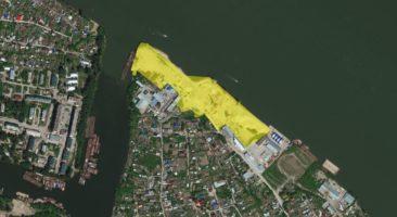 Схема Генплана развития города до 2030 года Новосибирска набережной Оби между Ельцовским и Димитровским мостами