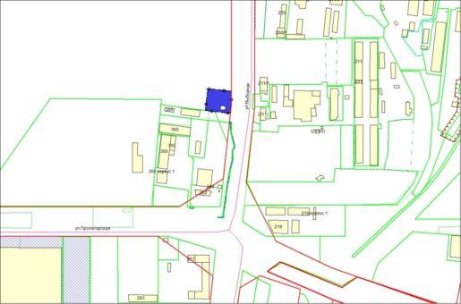 Схема расположения земельного участка – ул. Пролетарская – 0,3511 га