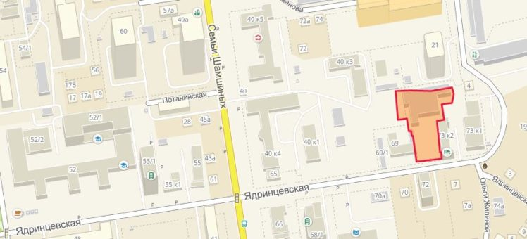 Земельный участок 0,34 Га ул. Ядринцевская Центральный район