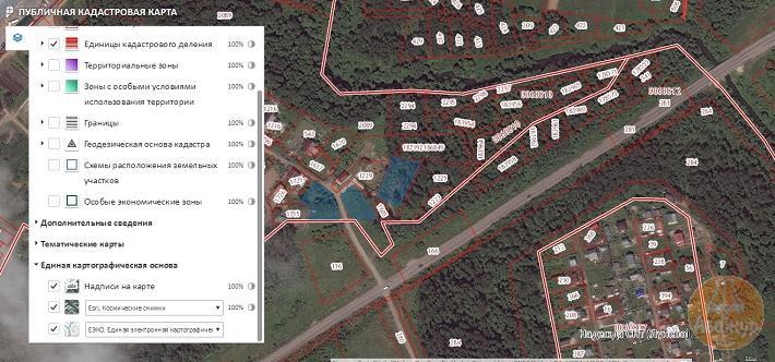 Чтобы увидеть реальную привязку к местности, выберите «Космические снимки»