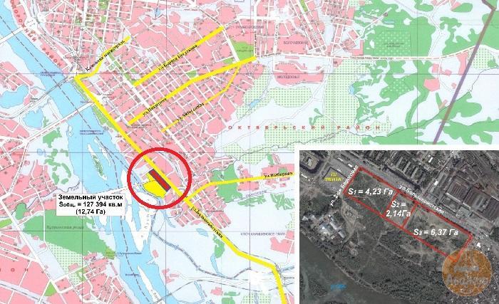 Земельный участок 12,37 Га ул. Большевистская Октябрьский район