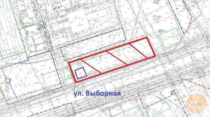 Земельный участок 0,74 Га ул. Выборная Октябрьский район