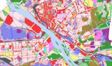 Карта градостроительного зонирования и основные виды территориальных зон Новосибирска