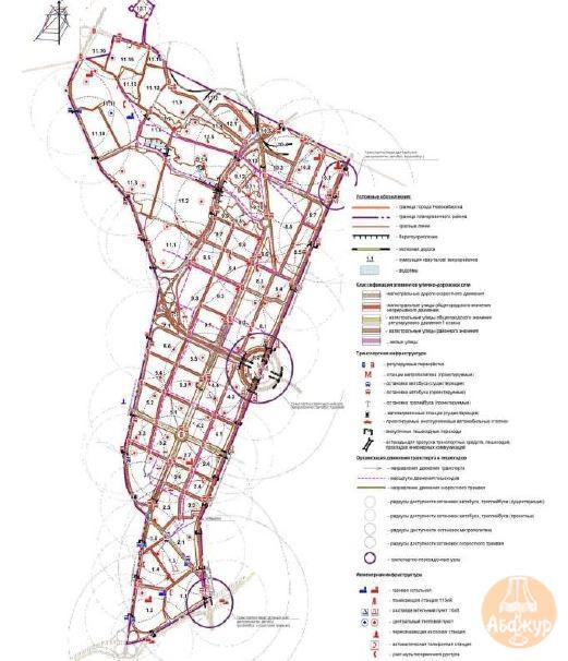 Линии, обозначающие дороги, улицы, проезды, линии связи, объекты инженерной и транспортной инфраструктур