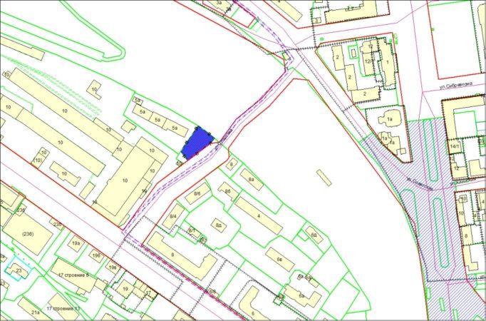 Схема расположения земельного участка – ул. Спартака – 0,1043 га