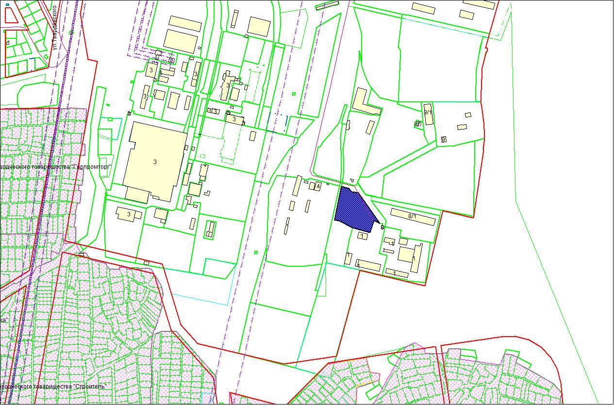 Схема расположения земельного участка – ул. Приграничная – 0,8565 га