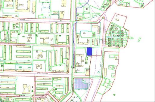 Схема расположения земельного участка – ул. Барьерная 0,3048 га