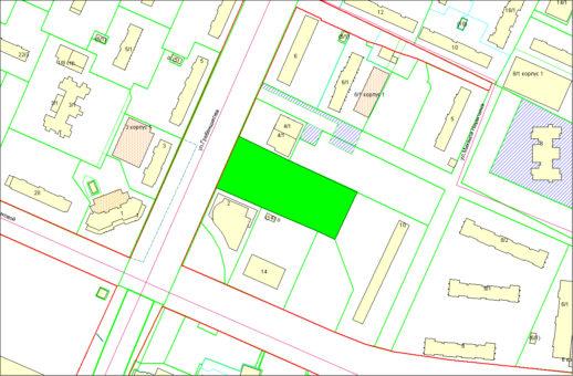 Схема расположения земельного участка – ул. Гребенщикова – 0,9524 га
