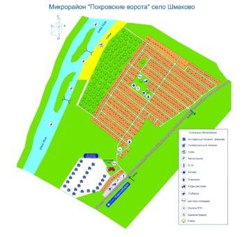 """Схема коттеджного посёлка """"Покровские ворота"""""""