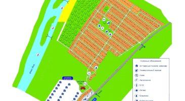 Схема коттеджного посёлка