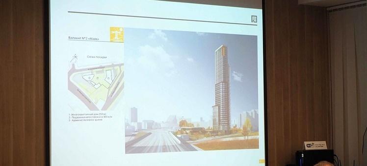 150-метровый небоскреб на пересечении улиц Ипподромская и Кирова