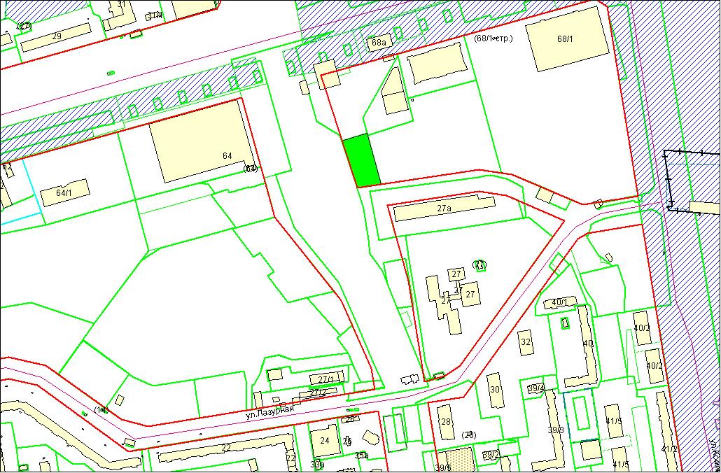 Схема расположения земельного участка – Гусинобродское шоссе, 66/1 – 0,2539 га
