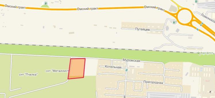 Земельный участок 3,65 Га ул. Муромская Обь Новосибирский район