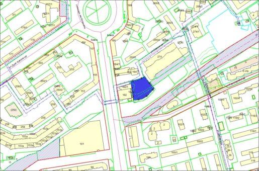 Схема расположения земельного участка – Красный проспект – 0,3827 га