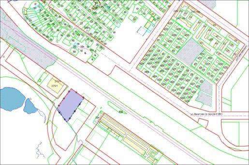 Схема расположения земельного участка – ул. Большевистская– 1,2863 га