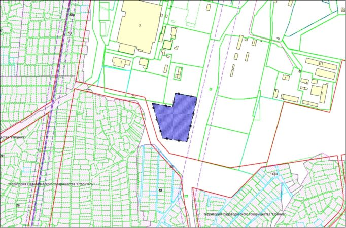 Схема расположения земельного участка – ул. Твардовского, 7 – 2,0648 га