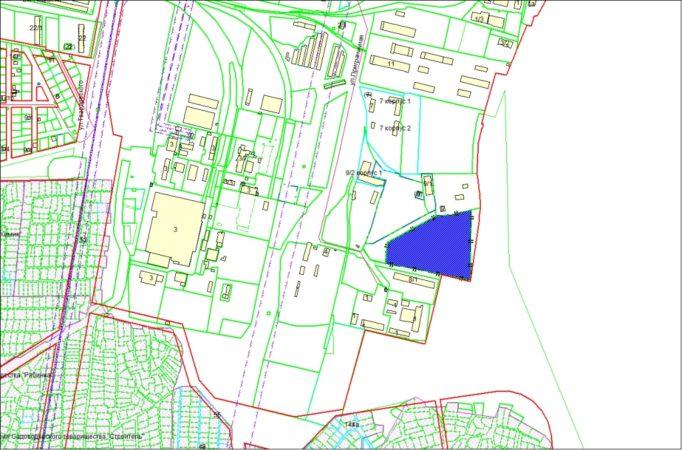 Схема расположения земельного участка – ул. Приграничная – 3,5976 га