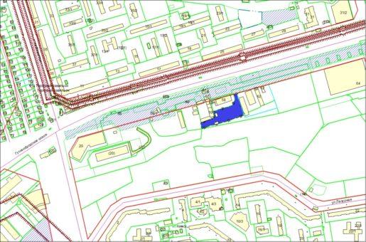 Схема расположения земельного участка по Гусинобродскому шоссе, 62/1 в Октябрьском районе