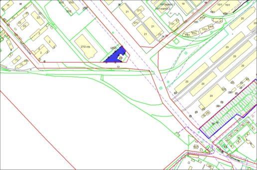 Схема расположения земельного участка – пер. Архонский, 2в – 0,4253 га