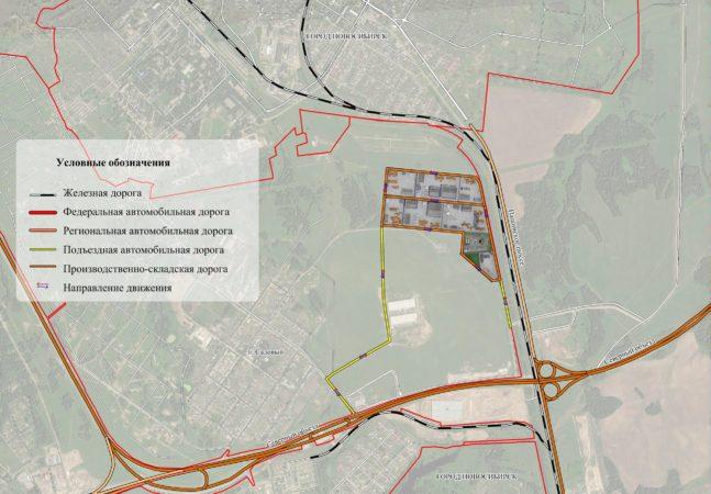 Мастер план земельного участка ВПЛП Промышленно-логистический парк Восточный
