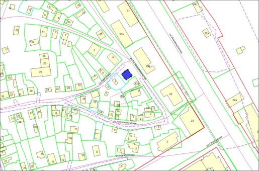 Схема расположения земельного участка по ул. 2-й Владимировской в Железнодорожном районе