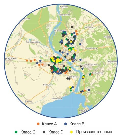 В Новосибирске наблюдается значительный перекос по количеству складских помещений на левом и на правом берегах Оби!