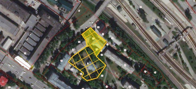 Земельный участок 4719 кв.м ул. Спартака, 8 б, Железнодорожный район под строительство административного или жилого здания
