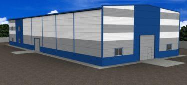 Расчет строительства теплого склада для хранения непродовольственных товаров площадью до 1500 кв.м