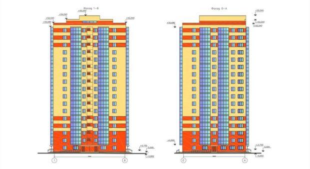 17-ти этажный односекционный дом с подземной парковкой