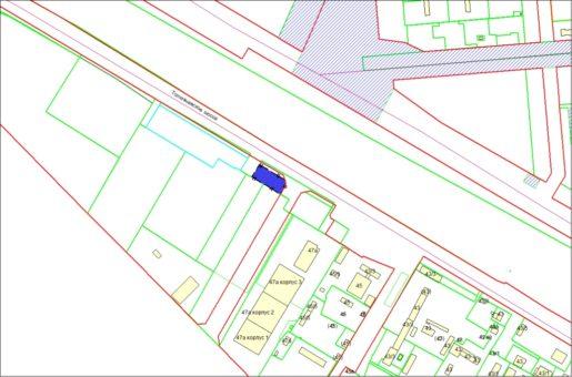 Схема расположения земельного участка по Толмачевскому шоссе, 49а в Ленинском районе