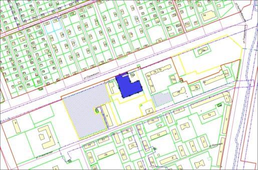 Схема расположения земельного участка по ул. Одоевского, 17 в Первомайском районе
