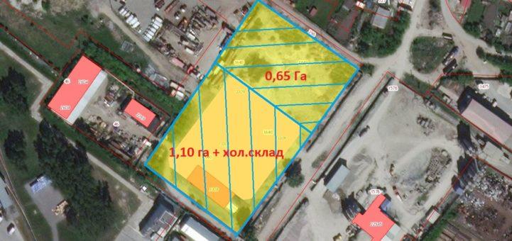 Межевание участок 1,70 Га ул. Большая Ленинский район на два 0,65 Га (чистый) и 1,10 Га (со складом)
