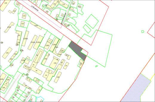 Схема расположения земельного участка по ул. Воинской, 230 в Октябрьском районе