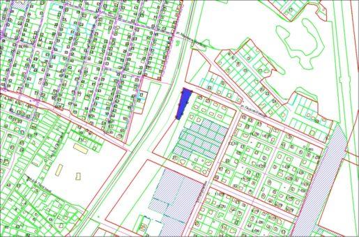 Схема расположения земельного участка по ул. Кедровой 2991 кв.м в Заельцовском районе