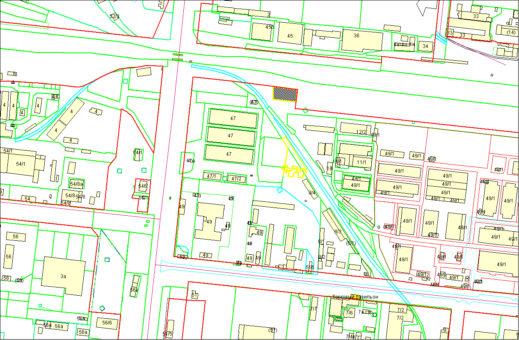 Схема расположения земельного участка по ул. Сибиряков-Гвардейцев, 47в в Кировском районе