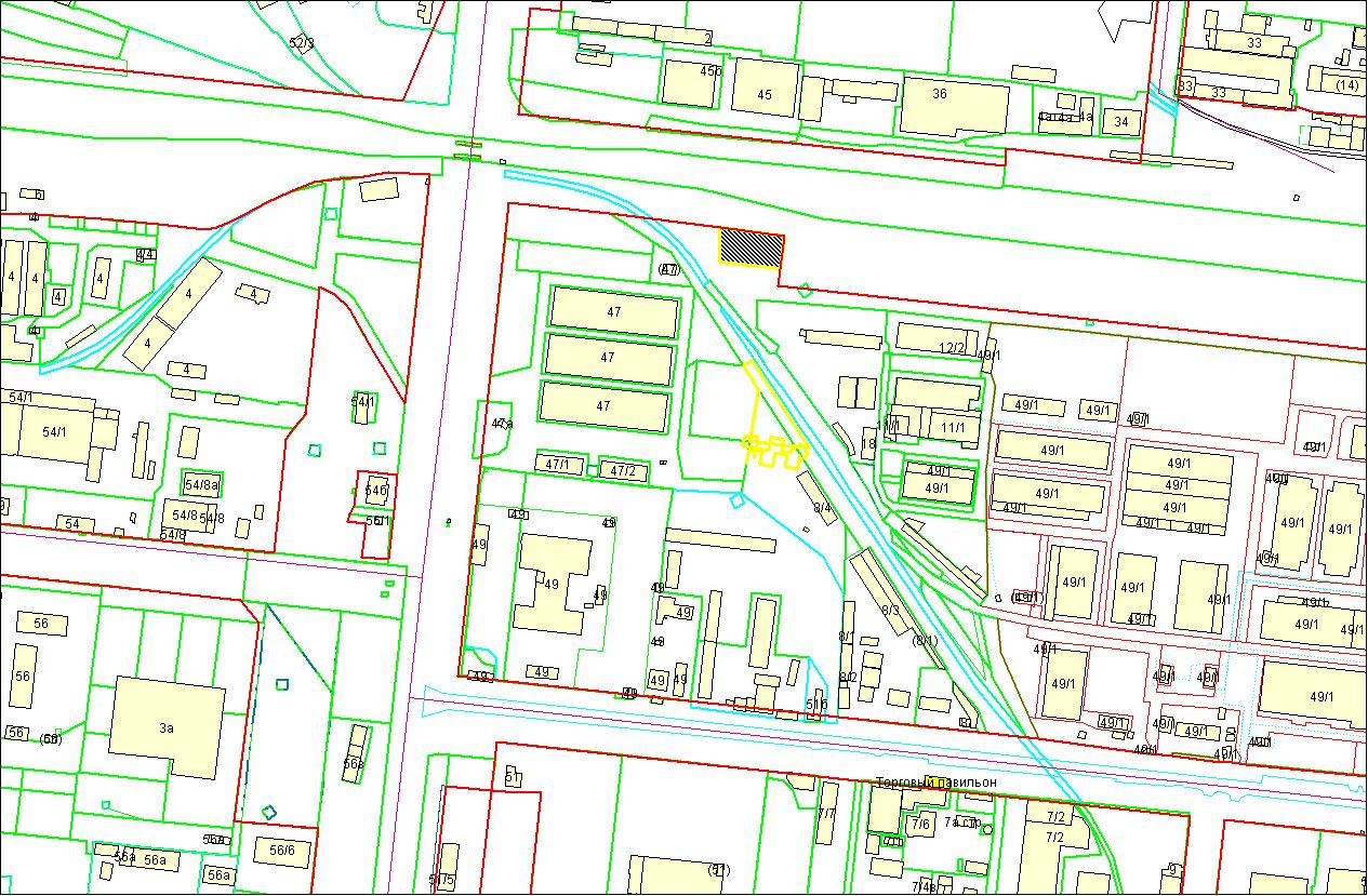 Схема расположения земельного участка по адресу: ул. Сибиряков-Гвардейцев, 47в, Кировский район