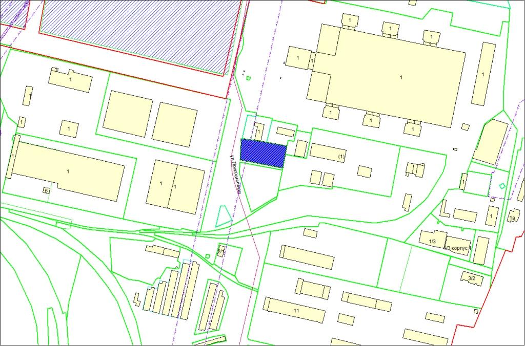 Схема расположения земельного участка по площадью 3590 кв. м по адресу: ул. Приграничная, Первомайский район