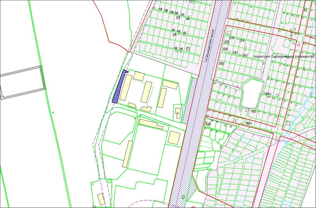 Схема расположения земельного участка по адресу: 1-е Мочищенское шоссе, 21б, Заельцовский район