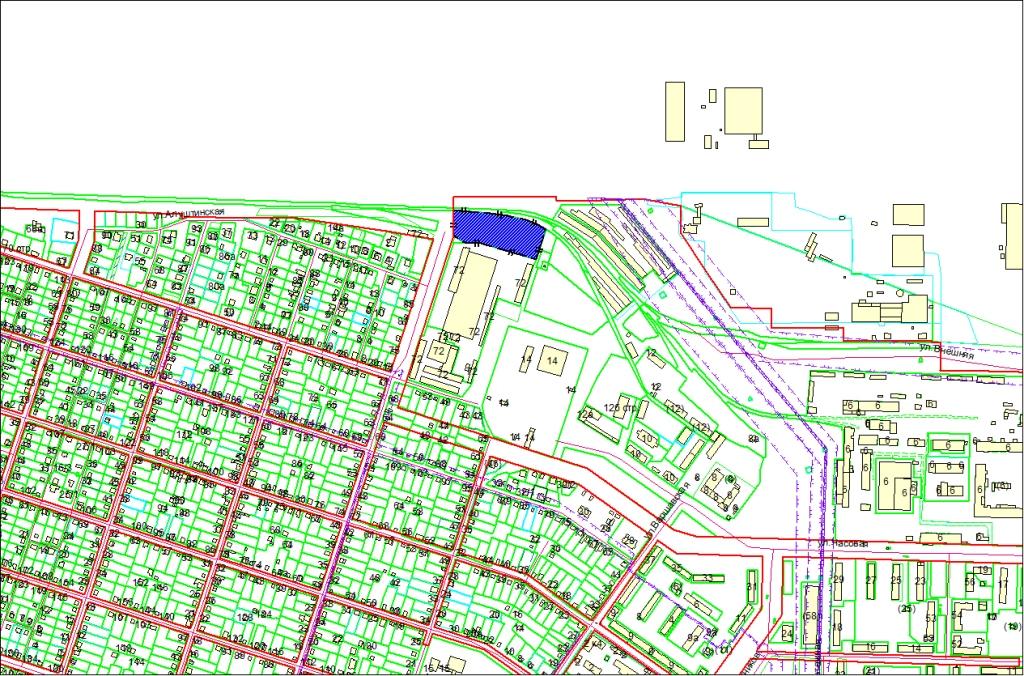 Схема расположения земельного участка по адресу: ул. Механизаторов, Советский район