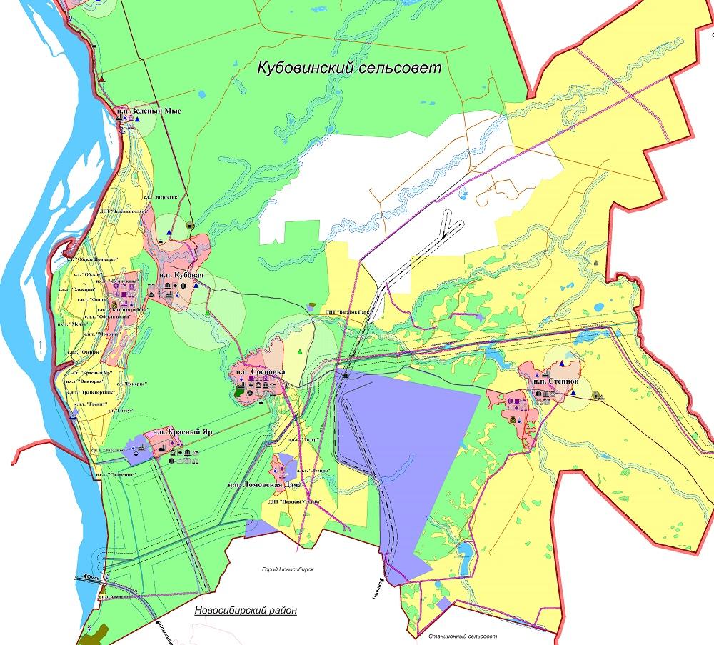 Генеральный план Кубовинского сельсовета