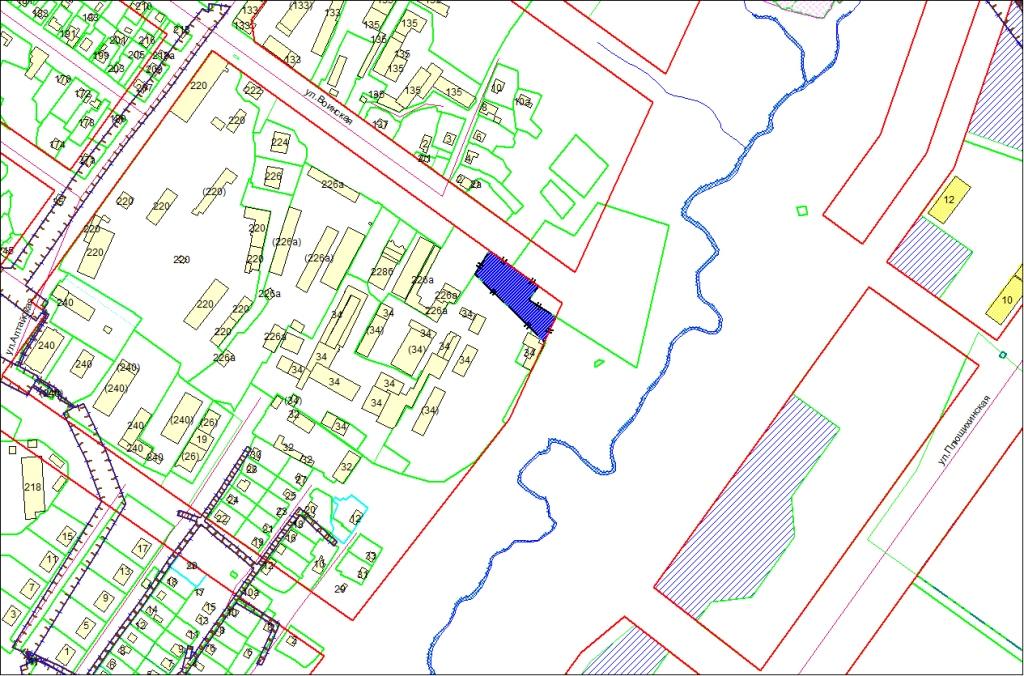 Схема расположения земельного участка по адресу: ул. Воинская, 230, Октябрьский район