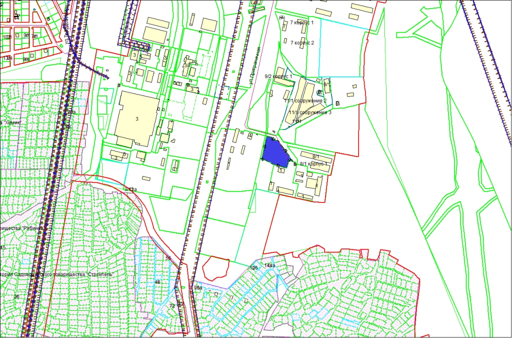 Схема расположения земельного участка по адресу: ул. Приграничная, Первомайский район