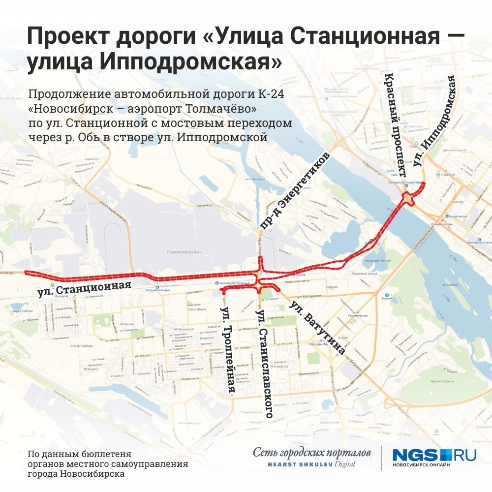 Изъятие земельных участков под дорогу от Ипподромской до Станционной в Новосибирске