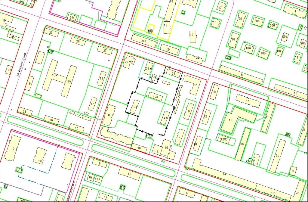 в границах улиц Марии Ульяновой, Красный Факел в Первомайском районе, площадь 10832 кв. м