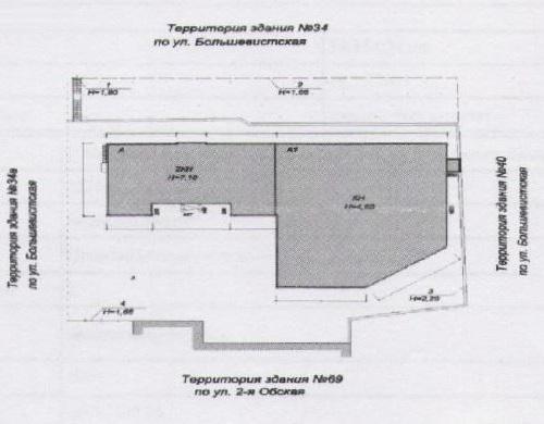 Земельный участок 0,53 Га ул. Большевистская Октябрьский район со строениями в собственности